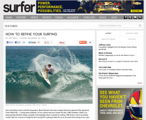Surfer Magazine Article on Coaching with Brad Gerlach